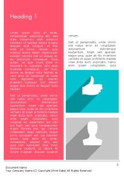 Modern Company Presentation Word Template, First Inner Page, 12274, Business — PoweredTemplate.com