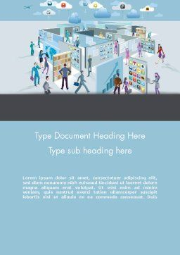 Mobile Business Applications Maze Word Template, Cover Page, 12277, Business Concepts — PoweredTemplate.com