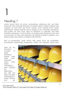 Safe at Work Word Template, First Inner Page, 12281, Careers/Industry — PoweredTemplate.com