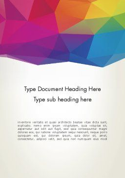 Colorful Triangle Mesh Word Template 12283 | PoweredTemplate.com