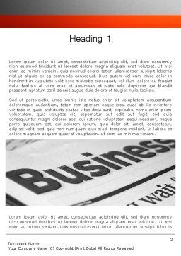 Business Articles Word Template First Inner Page