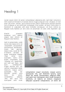 Application Screens Mockup Word Template First Inner Page