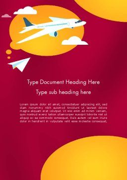 Think Big Word Template, Cover Page, 12298, Education & Training — PoweredTemplate.com