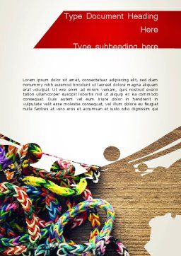 Rubber Band Bracelets Word Template Cover Page