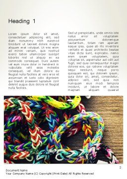 Rubber Band Bracelets Word Template First Inner Page