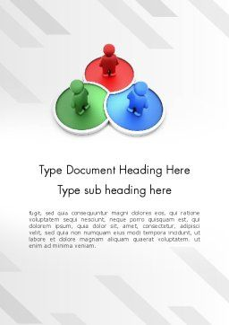 3D Men on RGB Platforms Word Template Cover Page