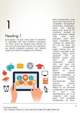 E-learning Icons Word Template First Inner Page