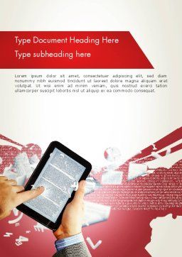 E-reading Word Template Cover Page