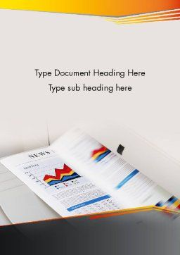 Color Copies Word Template, Cover Page, 12329, Careers/Industry — PoweredTemplate.com