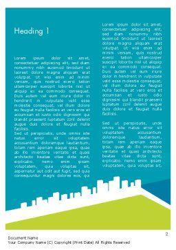 City Skyline Word Template, First Inner Page, 12330, Business — PoweredTemplate.com