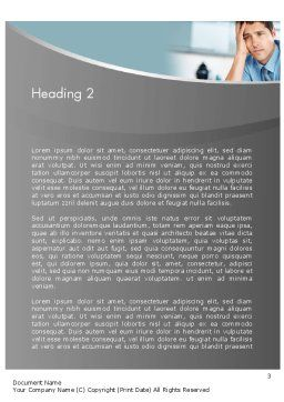 Feeling Pressure Word Template, Second Inner Page, 12333, Careers/Industry — PoweredTemplate.com