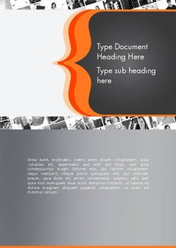 Brace Symbol Theme Word Template, Cover Page, 12336, Business Concepts — PoweredTemplate.com
