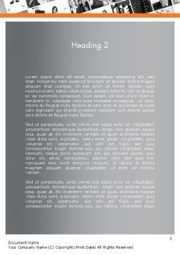 Brace Symbol Theme Word Template, Second Inner Page, 12336, Business Concepts — PoweredTemplate.com