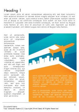 Air Charter Word Template First Inner Page