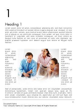 Joint Venture Word Template, First Inner Page, 12340, People — PoweredTemplate.com
