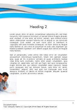 Joint Venture Word Template, Second Inner Page, 12340, People — PoweredTemplate.com