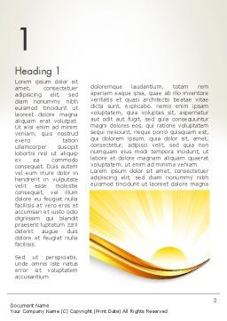 Rising Sun Word Template, First Inner Page, 12342, Nature & Environment — PoweredTemplate.com
