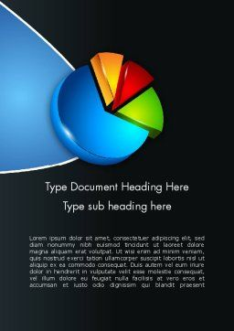 Segmented Pie Chart Word Template, Cover Page, 12346, Consulting — PoweredTemplate.com