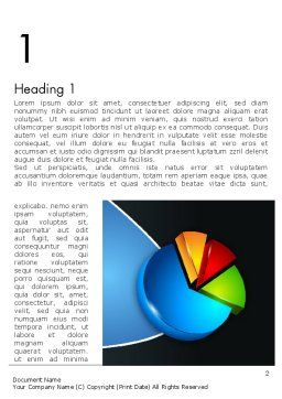 Segmented Pie Chart Word Template, First Inner Page, 12346, Consulting — PoweredTemplate.com
