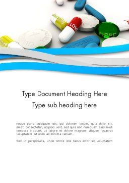 Pills for Everything Word Template Cover Page