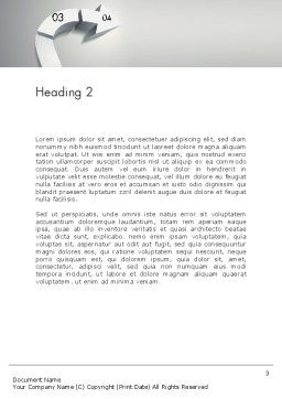 3D Road Concept Word Template, Second Inner Page, 12354, Business Concepts — PoweredTemplate.com