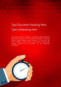 Time Tracking Word Template, Cover Page, 12362, Careers/Industry — PoweredTemplate.com