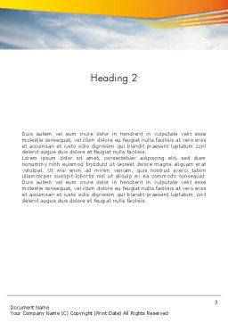 Business Competing Word Template Second Inner Page