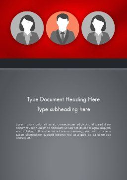Team Presentation Word Template, Cover Page, 12364, Business Concepts — PoweredTemplate.com