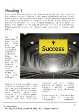 Adapting to Change Word Template, First Inner Page, 12365, Careers/Industry — PoweredTemplate.com