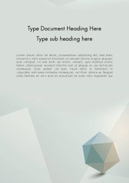 3D Icosahedron Word Template, Cover Page, 12368, 3D — PoweredTemplate.com