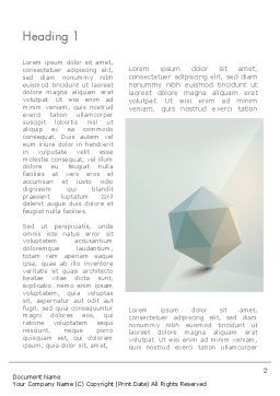 3D Icosahedron Word Template, First Inner Page, 12368, 3D — PoweredTemplate.com