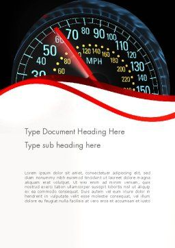 Car Speedometer Word Template, Cover Page, 12372, Cars/Transportation — PoweredTemplate.com