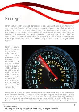 Car Speedometer Word Template, First Inner Page, 12372, Cars/Transportation — PoweredTemplate.com