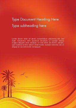 Palms on Sunset Word Template Cover Page