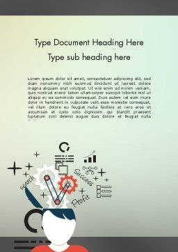 Idea Generating Concept Word Template, Cover Page, 12379, Business Concepts — PoweredTemplate.com