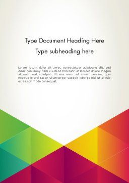 colorful triangles background word template 12381 poweredtemplate com