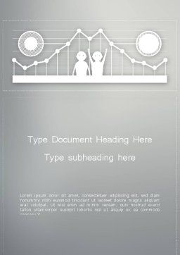 Line Graph Theme Word Template, Cover Page, 12386, Business — PoweredTemplate.com