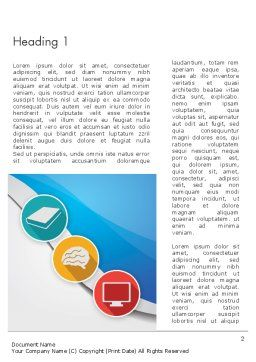 Education and Self Improvement Word Template First Inner Page