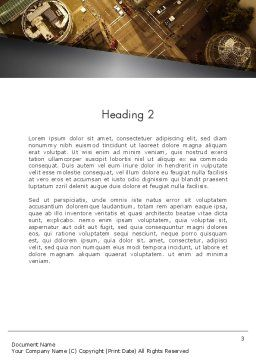 Downtown Block Top View Word Template, Second Inner Page, 12389, Construction — PoweredTemplate.com