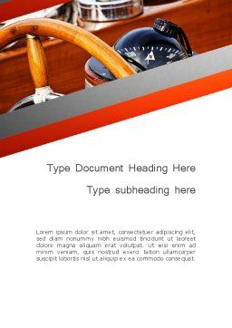 Yachting Word Template Cover Page