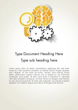Working Brain Word Template, Cover Page, 12405, Business Concepts — PoweredTemplate.com