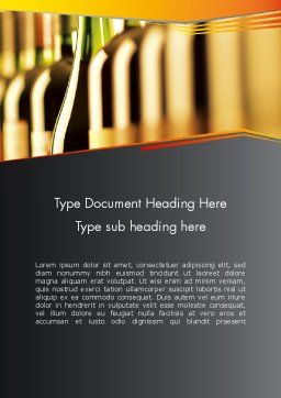 Types of Wine Word Template, Cover Page, 12408, Food & Beverage — PoweredTemplate.com