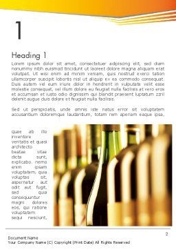 Types of Wine Word Template First Inner Page