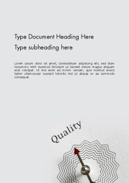 Path to Quality Word Template, Cover Page, 12412, Business Concepts — PoweredTemplate.com