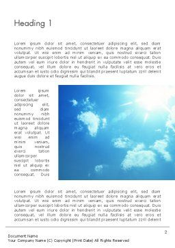 Sunshine Word Template First Inner Page