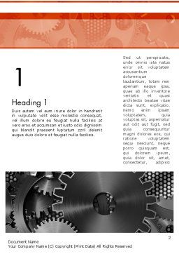 Cogwheels Concept Word Template, First Inner Page, 12423, Utilities/Industrial — PoweredTemplate.com