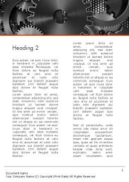 Cogwheels Concept Word Template, Second Inner Page, 12423, Utilities/Industrial — PoweredTemplate.com