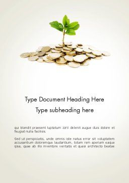 Crowdfunding Word Template Cover Page