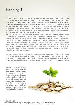 Crowdfunding Word Template, First Inner Page, 12424, Financial/Accounting — PoweredTemplate.com