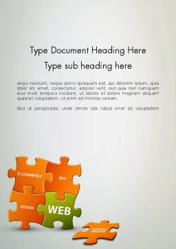 Puzzle with Internet Words Word Template Cover Page